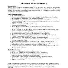 :Resume Description For Receptionist Receptionist Job Description Resume  Exampl Summary Front Desk Receptionist Customer Service