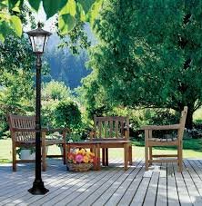 paradise landscape lighting. Photo 1 Of 6 Exceptional Garden Lamp Post Solar #1 Paradise GL23716BK Cast-Aluminum Solar-Powered LED Landscape Lighting