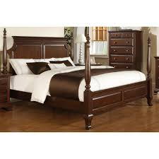 Sunset Trading SS-CN600-Q-BED Cambridge Queen Poster Bed in Rich Cherry