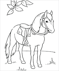 Horse Colouring Pages For Kids Realistic Horse Coloring Pages Home