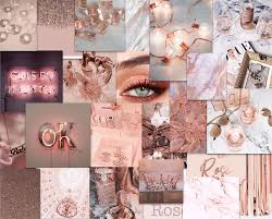 We've gathered more than 5 million images uploaded by our users and sorted them by the most popular ones. Rose Gold Collage Computer Wallpaper Desktop Wallpapers Desktop Wallpaper Art Aesthetic Desktop Wallpaper