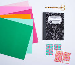 personalize your school notebooks with vinyl