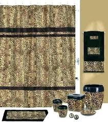 aesthetic ideas animal print bathroom set and cheetah decor leopard zebra bath rug sets