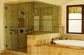 image of curved bathtub glass doors