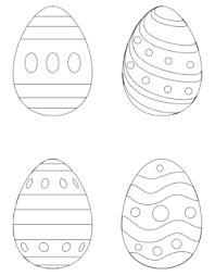 The swirling vines and broad petals of the flower, there is so. 25 Free Printable Easter Egg Templates Easter Egg Coloring Pages The Artisan Life