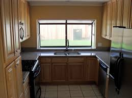 U Shaped Kitchen Kitchen Small U Shaped Kitchen Remodel With Nice Window Design