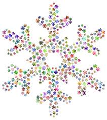 snowflake background clipart.  Clipart Snowflake Fractal Prismatic No Background Throughout Clipart N