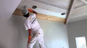 White Washed Wood Ceiling Pickled Ceiling Youtube