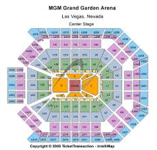 Mgm Arena Seating Map Mgm Grand Garden Concert Seating Chart