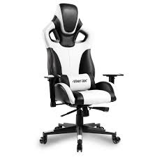 merax computer gaming chair high back racing style chair ergonomic design executive chair white and