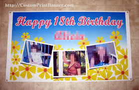 happy birthday banners personalized 18th banners 3ftx5ft personalized happy 18th birthday banner