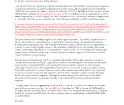 Engineering Internship Cover Letter Chemist Examples Chemical Format
