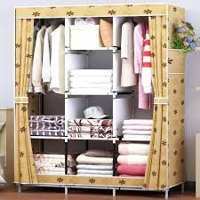 clothes storage waterproof oxford cloth multi purpose clothing storage cabinet wardrobe assembly reinforced folding storage closet