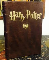 made to order custom leather bound harry potter and the image 0