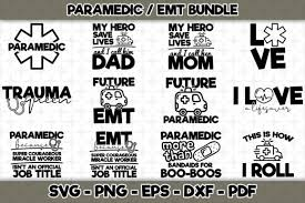 If you wish to use our design, it is only $3 per bundle/design/font for a commercial use (up to 500 physical products or for. Paramedic Emt Bundle 12 Designs Graphic By Svgexpress Creative Fabrica