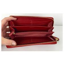 Coach COACH Red Patent Leather Op Art Ziparound Wallet! 12
