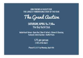 Auction Invitations Online Business Invitations