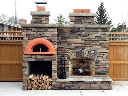 image of fireplace pizza oven insert