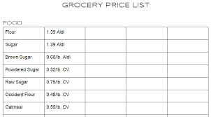 Grocery List Prices Our 200 Grocery Budget How A Price List Saves Money