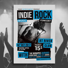 Free Music Poster Templates Indie Rock Concert Poster Template For Free Download On Pngtree