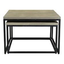 Nesting furniture Oak Old Bones Furniture Company Drey Square Nesting Coffee Tables Set Of Old Bones Furniture Company