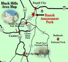 「the Black Hills National Forest of South Dakota map」の画像検索結果