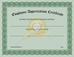 free recognition certificates employee recognition certificate template appreciation