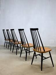 Vintage Spindle Back Mademoiselle Dining Chairs By Ilmari