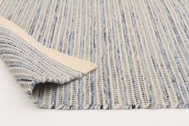 madras blue flat weave rug