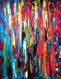 illusion of rain abstract big size 70 x 90 cm depth