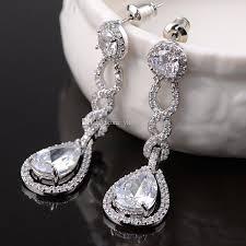 bridal chandelier earrings vintage crystal bridal earrings long silver dangle wedding