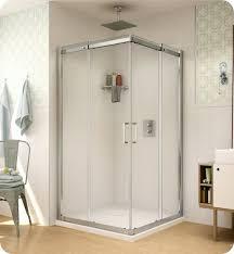 fleurco stc36 11 40 apollo square 36 semi frameless corner entry sliding doors with hardware finish bright chrome and glass