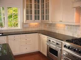 kitchen backsplash white cabinets brown counter photo of backsplash ideas with white cabinets and dark countertops