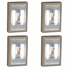 under cabinet lighting switch. Promier LED Wireless Light Switch, Under Cabinet, RV, Kitchen, Night Light, Counter, Or Boat Lighting, 4-Pack, Battery-Operated Cabinet Lighting Switch