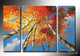 8x20inch 16x20inch 8 20inch 3pcs set mix order landscape oil paintings the modern landscape oil paintings stretchered framed hand painted artwork