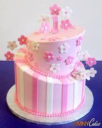 Pink Topsy Turvy 1st Birthday Cake Cmny Cakes