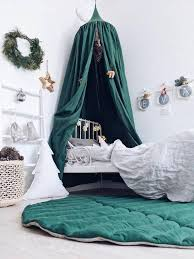READY 2 SHIP! Bed hanging canopy, natural linen, <b>GREEN</b> color ...
