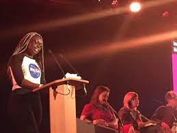 "Just for Kids Law on Twitter: "".@LetUs_Learn's Agnes Harding, a budding  astronaut, says all girls should ""reach for the stars"" at  @southbankcentre's @WOWtweetUK #WOWLDN… https://t.co/2byAfVpwC5"""