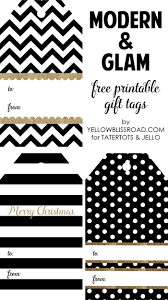 Happy Holidays Modern Printable Gift Tag Set Christmas Labels And