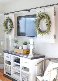 decorating ideas kitchen. Simple Kitchen Home Decorating Ideas Kitchen DIY Television Cover With Old Doors   In S