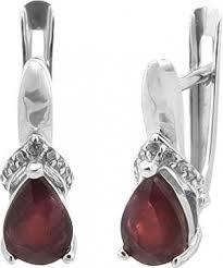 <b>Серьги</b> из серебра с рубином — купить в AllTime.ru, фото и цены ...