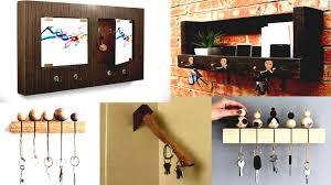 diy wood home decor wooden key holder for wall ideas easy on gpfarmasi deae easydiy crafts