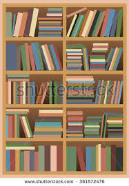 Bookshelf  Vector illustration of a Untidy Bookshelf with Pastel Colored  Books