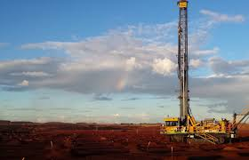 atlas copco drill. these particular rigs supplied by atlas copco drilling solutions are, literally and figuratively, ground-breaking. credit: courtesy of drill d