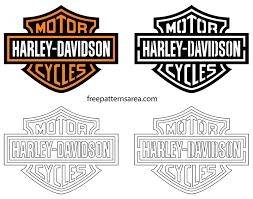 Eagle outline line art monoline logo vector icon. Harley Davidson Logo Stencil Vector Freepatternsarea