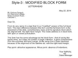 Block Form Business Letter Layout Of Business Letters