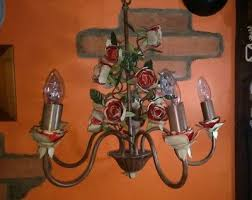 laura ashley climbing rose 5 light fitting chandelier