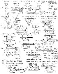 interate algebra exam 1x with detailed solutions order of operations equation solving inequalities