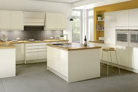 Cream Kitchen budget kitchens capri cream gloss handleless range cut price 7137 by guidejewelry.us