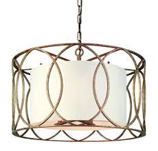 fixtures light informal brushed nickel drum pendant lighting